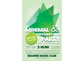 Poster design and poster creation for Minimal & Progressive party